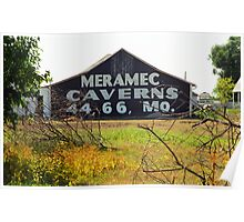 Route 66 - Meramec Caverns Barn Poster