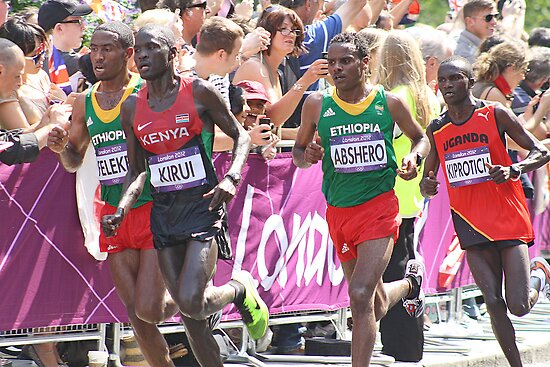 Gold And Silver - Mens Olympic Marathon - London 2012 by Colin  Williams Photography