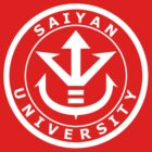 Saiyan University Crest - White version by karlangas