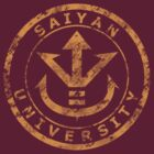 Saiyan University Crest - Gold vintage by karlangas
