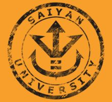 Saiyan University Crest - Black vintage by karlangas