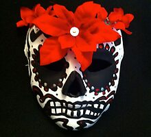 Calavera, Day of the Dead, Sugar Skull Mask by Suzi Linden