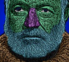 Ernest Hemingway Culture Cloth Zinc Collection Sticker