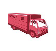 horse truck trailer retro by retrovectors