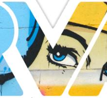 """RVA - flood wall """"Wonder Women"""" Sticker"""