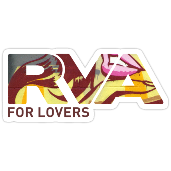 """RVA - Flood Wall """"For Lovers""""  by Lee Lacy"""