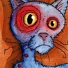 blue zombie cat by byronrempel