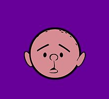Karl Pilkington - Head - PURPLE by aelari1