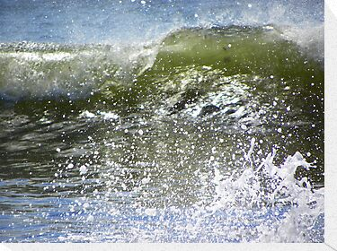Crashing Wave - Up Close by MaryinMaine