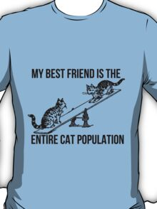 My BF is the entire Cat Population v2 T-Shirt