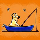 Yellow Lab Fishing Trip by offleashart