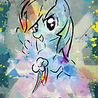 Poster: Rainbow Dash by Han Zhao