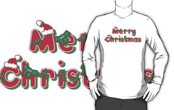 Merry Christmas Christmas T-Shirt by HolidayT-Shirts