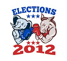 Democrat Donkey Republican Elephant Mascot 2012 by patrimonio