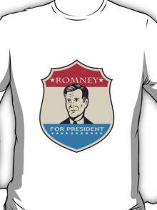 Mitt Romney For American President Shield T-Shirt