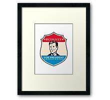 Mitt Romney For American President Shield Framed Print