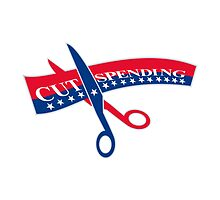 Cut Spending Scissors Cutting Bill by patrimonio