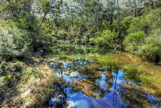 Megalong Reflections - Megalong Valley, Blue Mountains World Heritage Area - The HDR Experience by Philip Johnson