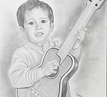 His first guitar by shadesofgrace61