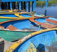Three dinghies. by Anne Scantlebury