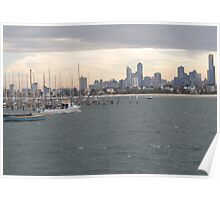 From St Kilda I See... Melbourne City! Poster