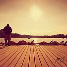 Sunset at the dock by adriangeronimo
