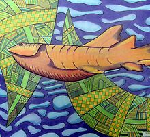 363 - SHARK DESIGN - DAVE EDWARDS - COLOURED PENCILS - 2012 by BLYTHART