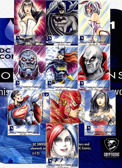 DCNew52 sketchcards by wu-wei