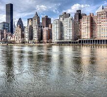 East River Manhattan by David Tinsley