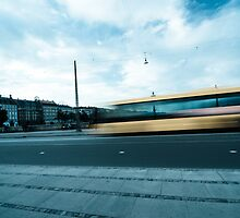 A bus in Copenhagen by InaMaria