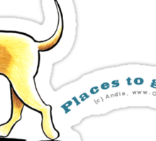 Yellow Lab Places to Go Sticker