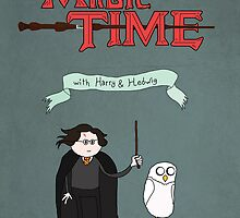 Magic Time with Harry & Hedwig by eraygakci