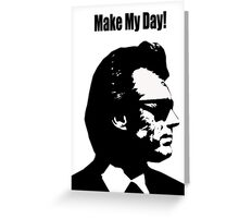 Clint Eastwood Dirty Harry Make My Day Greeting Card