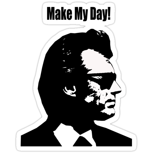 Clint Eastwood Dirty Harry Make My Day by bassdmk