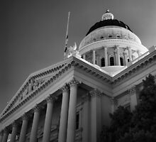 State Capital Building, Sacramento California by Rodney Johnson