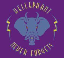 Hellephant - Impale Blue on Purple by Koobooki