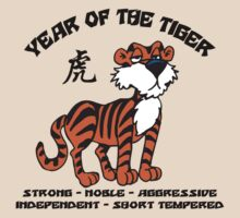 Cute Chinese Year of Tiger T-Shirt by HolidayT-Shirts