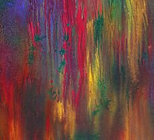 Abstract - Tempera - Night Fall by Mike  Savad