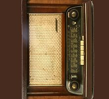 Vintage Brown Radio by HighDesign
