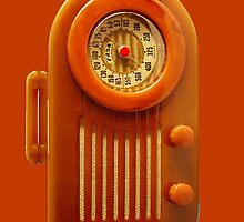 Orange Vintage Radio by HighDesign