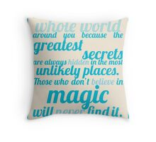 Roald Dahl / The Minpins Quote Throw Pillow