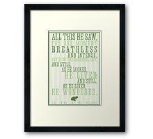 Wind in the Willows / Kenneth Graham Quote Framed Print