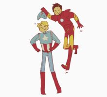 Captain America and Iron Man by Lou  Wilson