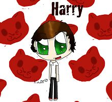 Chibi Harry from One Direction by SpottiClogg