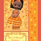 Cutie Pie Birthday Card With Dark Skinned Little One by Moonlake