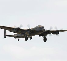 Lancaster Bomber in Flight by Pauws99