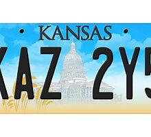 Supernatural Kansas Impala Plate by Kate H
