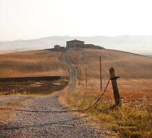 Distant farm in Val d'Orcia by CreaRestless
