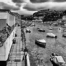 Boats at West Looe by Jay Lethbridge