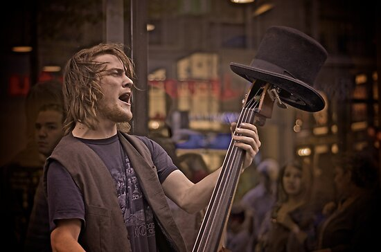 Top Hat Busker by Valerie Rosen